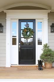 Gray Siding White Trim Black by Front Door Decor Magnolia Wreaths Grey Exterior Studio Mcgee