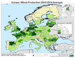 Usda Map Europe Crop Production Maps