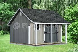 14 u0027 x 12 u0027 backyard storage shed with porch plans p81412 free