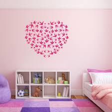 stickers muraux chambre stickers muraux romantiques amour et coeurs