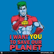 captain planet he s a hero going to take pollution down to zero