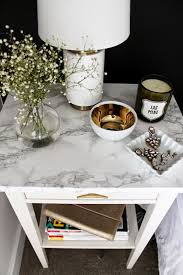 this ikea nightstand used a marble self adhesive paper to get that