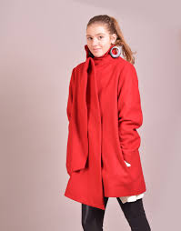 Womens Winter Coats Plus Size Red Coat Red Winter Coat Womens Coat Wool Coat High Collar