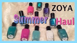 zoya summer nail polish haul 2015 youtube