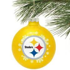 pittsburgh steelers small painted tree ornament