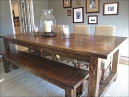 kitchen farm table with bench rustic farmhouse table white