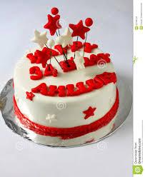 fondant birthday cake cake stock photo image 52748724