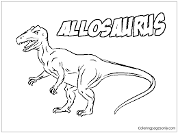 allosaurus dinosaur coloring page free coloring pages online
