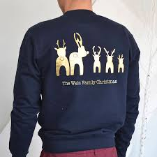 personalised reindeer bottoms jumper by solesmith