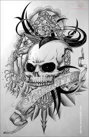 tribal tattoos with roses designs skull tattoo pattern tattoos pinterest tattoo patterns