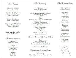 wording for wedding programs awesome sle wedding program template contemporary styles
