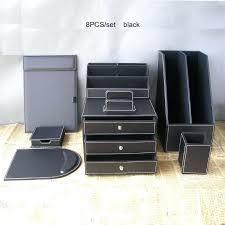 desk desk organizer set white desk organizer set 8pcs office business leather desk organizer