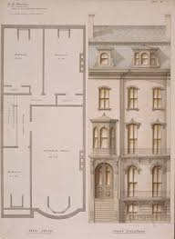 attic floor plan and front elevation of the p d wallis house