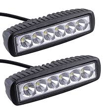 6 inch light bar agptek 2x 6 inch 18w ip67 led energy saving driving light bar spot