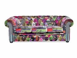 Chesterfield Patchwork Sofa Sofa 3 Seater Sofa Patchwork Violet Chesterfield