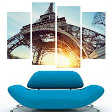 eiffel tower canvas print wall art picture home decor hd wall