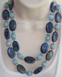 blue jade necklace images Chunky denim lapis statement necklace bold by 123gemstones on zibbet jpg
