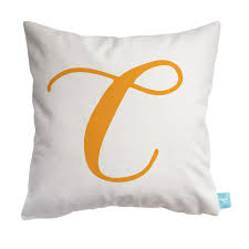 Childrens Bedroom Pillows Throw Pillow Cover With Script Initial Letter