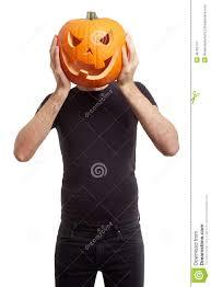 halloween pumpkin image halloween pumpkin on man head stock photo image 46752747