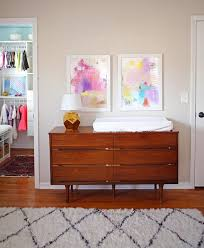 mid century changing table how to create a comfortable nursery for both baby and parents