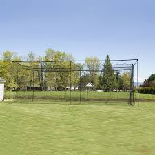 commerical batting cage package 42 kvx200 net poles l screen 12x14x55
