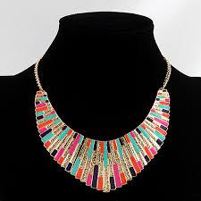 collar bib necklace images Colorful shining bib collar necklace jpg