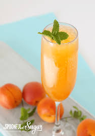 pretty alcoholic drinks apricot bellini a spoonful of sugar