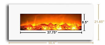 Electric Fireplace White Touchstone 80002 Ivory Wall Mounted Electric Fireplace 50