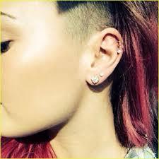 demi lovato earrings demi lovato gets four new ear piercings see pic photo 653282