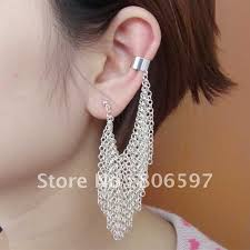 cuff earrings with chain aliexpress buy whhec107 new arrival gold plated ear cuff