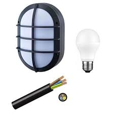 Bulkhead Outdoor Lights Lighting Bulkhead Black Outdoor 220v Available Solar Ready 12v