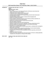 Policy Analyst Resume Sample by Information Security Analyst Resume Sample Velvet Jobs