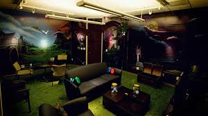 the zelda room complete with rupee pillows and fairies trapped in
