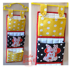 Nursery Organizers Minnie Mouse Pocket Organizer Book Pocket Holder Toy Storage Balck