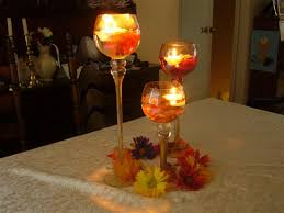 brides helping brides flower centerpieces with candles