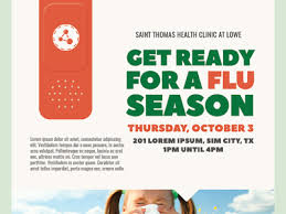 flu shot campaign flyer templates by kinzi wij dribbble