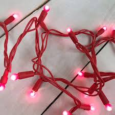 pink globe s day string lights 35 count