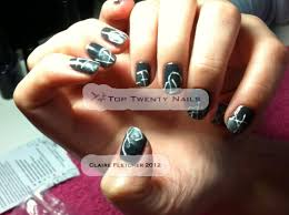 toptwentynails shellac nail art tutorial sponging and free hand