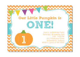 our little pumpkin boy first birthday party invitation