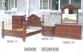 American Bedroom Furniture by Solid Wooden American Bedroom Furniture Set Sm B6006 Sanmu