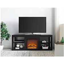 tv stand entertainment center electric fireplace heater cabinet