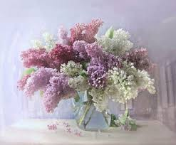 Japanese Flower Vases Flower Vase Lilacs Flowers Texture Still Life Japanese Flower