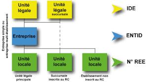 bureau registre des entreprises modèle des données