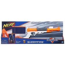 nerf car gun nerf n strike elite sharpfire blaster hasbro toys
