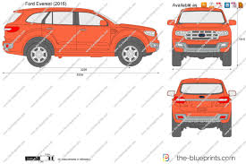 2016 Ford Everest The Blueprints Com Vector Drawing Ford Everest