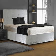 Divan Bed Set Affordable Cbs Crushed Velvet Memory Foam Divan Bed Set Supportive