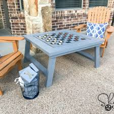 diy outdoor game table flip the board for tic tac toe free plans