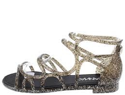 melly5 black glitter caged jelly sandals only 10 88