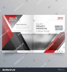 financial report cover page brochure magazine cover page template layout stock vector
