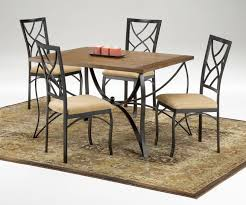furniture high back black metal cushioned dining chairs for four